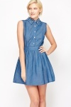Studded Collar Skater Dress