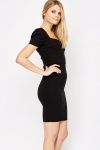 Ruched Shoulders Formal Dress