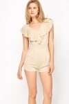 Layered Neck Evening Playsuit
