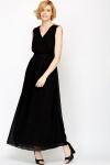 V-Neck Evening Maxi Dress