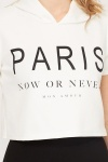 Paris Hooded Crop Top