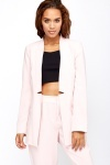 Light Pink Long Line Blazer