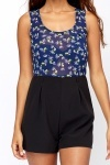 Sheer Floral Top Playsuit