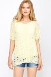 Long Line Crochet Overlay Top