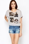 Polaroid Print Crop Top