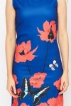 Butterfly Print Hem Dress