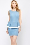 Textured Peplum Dress