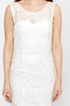 Sleeveless Crochet Overlay Dress