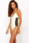 Perforated Side Pearl Swimsuit