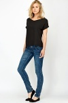 Low Rise Wash Denim Jeans