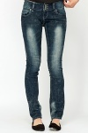 Low Rise Washed Denim Jeans