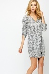 Belted Mono Tunic Dress