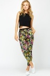 Butterfly Print Harem Trousers