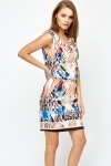 Cowl Neck Printed Dress