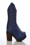 Studded Cuff Cowboy Boots