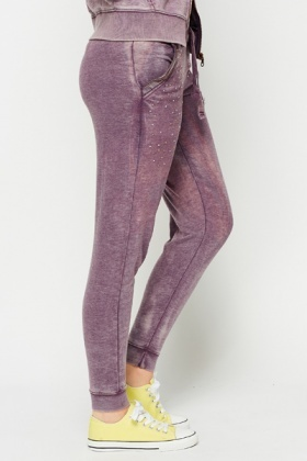 Diamante Zipper Joggers