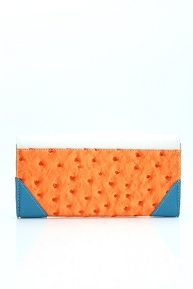Beads Embossed Faux Leather Purse