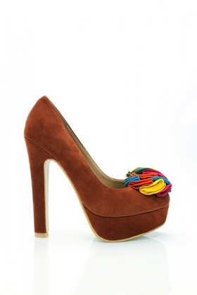 Multicolour Felt Flowers Shoes