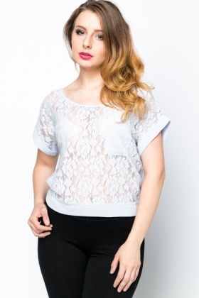 Tie-Up Back Lace Top