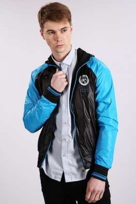 Sports Two Tone Hooded Jacket