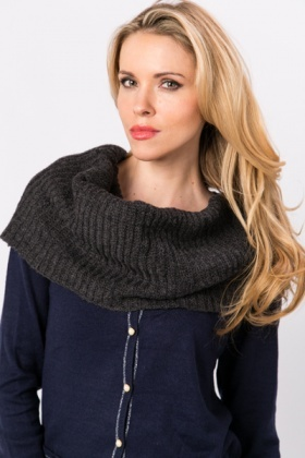 Wool Blend Rib Knit Snood
