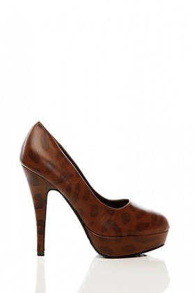 Leopard Print Faux Leather Shoes