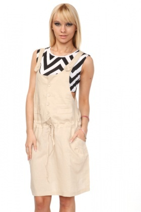 Linen & Cotton Suspender Dress