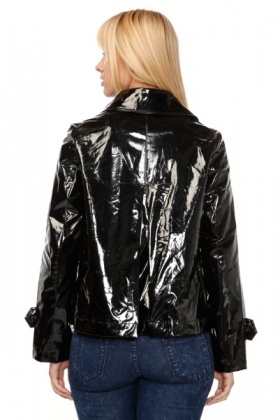 Patent PVC Swing Raincoat
