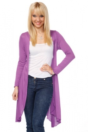 Asymmetric Hem Superfine Cardigan