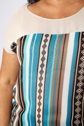 Blue Aztec Blouse