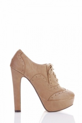 Perforated Brogue Heels Shoes