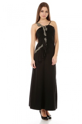 Beaded Ruffle Maxi Dress