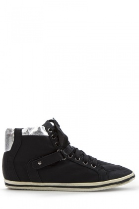 Contrast Trim Lace Up Trainers