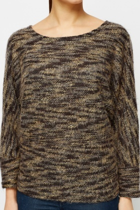 Batwing Speckle Pullover