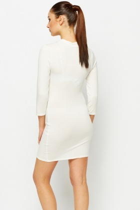 Cut-Out Front Bodycon Dress