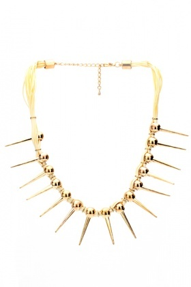 Spike Drops Trendy Necklace