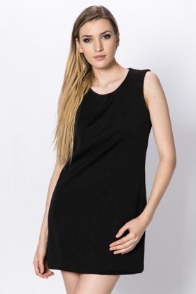 Cotton Blend Shift Dress