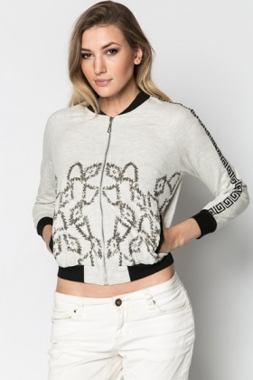 Embroidered Sleeve Jacket