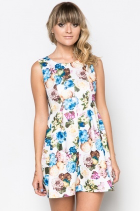 Fleur Print Pleat Dress