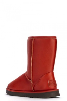 Faux Leather Snug Boots