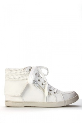 Perforated Trim High-Top Trainers