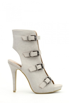 Multi-Buckle Open Back Shoes