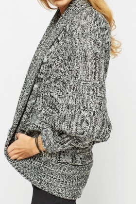 Batwing Speckle Cardigan