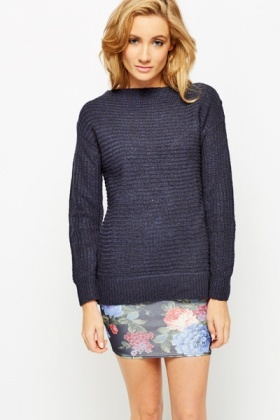 Ribbed Thick Knit Sweater