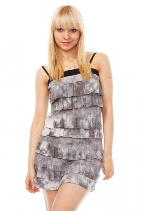 Tie Dyed Tier Dress