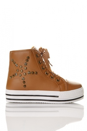 Spike Studded Star Flatform Trainers