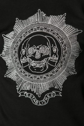 Skull Embroidered Pullover