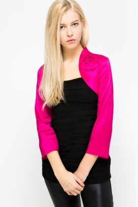 Rose Embellished Shrug