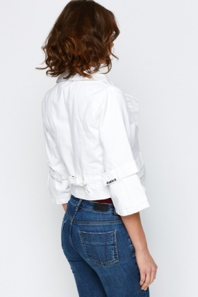 Cotton Cropped Jacket
