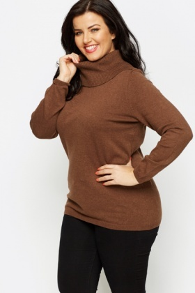 Roll Neck Knit Jumper